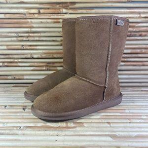 Minnetonka Olympia Sheepskin Boots Brown Womens 9